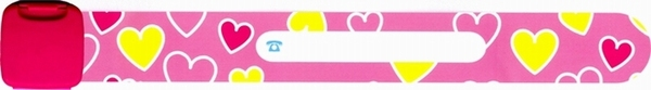 Infoband Hearts Pink